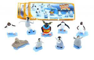 Happy Feet 2 Figurensatz mit allen Beipackzetteln und Lovelace (Sätze Europa)