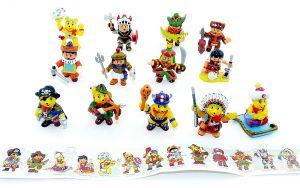 Alle 12 Haribo Figuren der Abenteuer Serie mit Beipackzettel