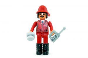 Feuerwehrhauptmann mit Funkgerät (Steckfiguren)