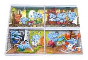 Superpuzzle der Heimwerker Elefanten mit den 4 Beipackzetteln