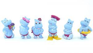 """Satz """"Die Happy Hippos"""" in hellblau Variantensatz von 1988"""