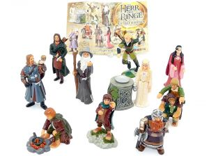 Alle 10 Figuren von Herr der Ringe I mit einem Beipackzettel zur Serie [Komplettsatz]