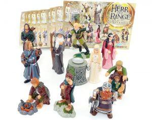 Alle 10 Figuren von Herr der Ringe 1 mit 10 Beipackzetteln (Komplettsätze)