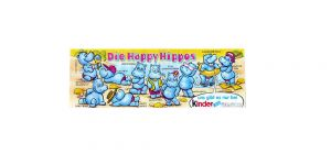 Beipackzettel der ersten Happy Hippo Serie von 1988, Top Zustand
