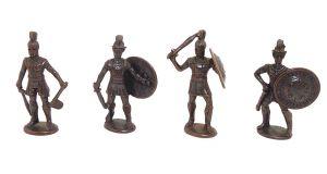 Griechische Krieger - Spartaner - alle 4 Hoplit Figuren von 1977