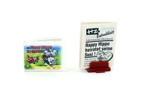 Happy Hippo Hochzeit, Comic mit Zeitung (Comic Büchlein)