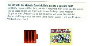 Happy Hippo Hollywood mit Zettel (Comic Büchlein)