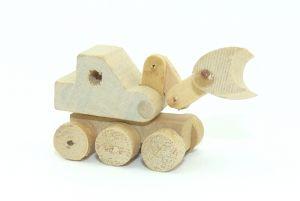 Bagger aus Holz, länge ca. 45mm (Holz Spielzeug)