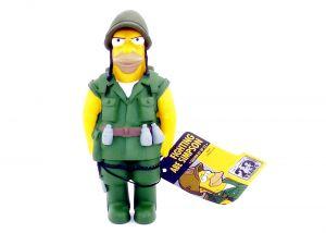 Simpsons Sammelfiguren 20th Anniversary HOMER ALS SOLDAT Größe 11cm