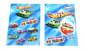 Flyer von den HOT WHEELS als Postkarte (Testware in Postkartenformat)