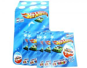 Werbebox zum Anhängen der Hot Wheels Plus 10 Flyer (Ü-Ei Werbematerial von Ferrero)