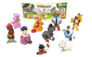 Figurensatz der Großstadthunde - alle 10 Figuren und 1 Beipackzettel dazu