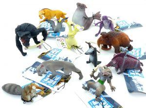 """Alle 12 Figuren von Ice Age 4 """"Voll verschoben"""" von der Firma Fun Trading"""