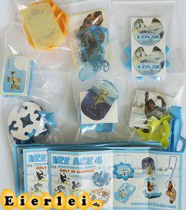Spielzeugsatz von ICE AGE 4 mit allen BPZ (Sätze Deutschland)
