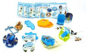 Spielzeugsatz von ICE AGE 4 mit allen Beipackzetteln (Sätze Deutschland)
