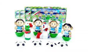 Komplettsatz Fußballstars I Picolli Tifosi Italien mit allen Beipackzetteln