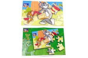 Puzzleecke von Tom & Jerry Nr. 2 mit Beipackzetteln Ü-Ei Puzzle