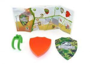 Jurassic World Spielzeug 2021 Kinder Joy. Foto Halter mit Beipackzettel VV414