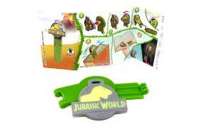 Jurassic World Spielzeug 2021 Kinder Joy. Bookmark mit Beipackzettel VV411