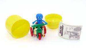 Karl der Superradler mit Beipackzettel und Kapsel dazu (Alte Ü-Ei Inhalte von Bermes-Design)