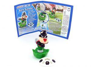 Karlo Karacho mit Ball und deutschen Beipackzettel (Magic Sport 2)