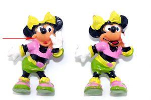 Minnie Maus ohne schwarze Mundbemalung (Ü-Ei Variante - fehlende Bemalung)