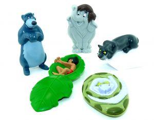 Dschungelbuch Figuren Set. Alle 5 Figuren: Kaa, Balu, Mogli, Baghira und der kleine Elefant (Figurensatz von Kellogg Cornflakes Company)