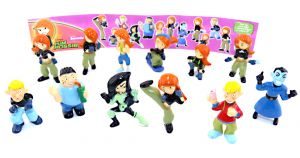 KIM POSSIBLE Figurensatz aus dem Jahr 2008. Disneys Kim Possible Figuren [Firma - BIPS CANDY FUN]