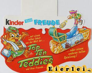 Kinder Freude Top Ten Teddies (Palettenanhänger)