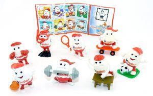 Komplettsatz Kinderino Sport Figuren mit einem Beipackzettel