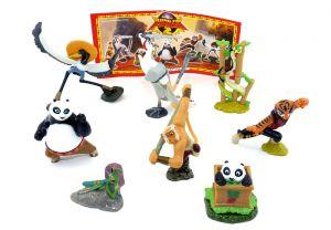 Deutscher Satz Kung Fu Panda 2 mit 1 Beipackzettel (Komplettsatz mit 8 Figuren)