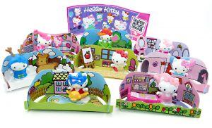 Komplettsatz Hello Kitty alle 8 Figuren und 1 BPZ