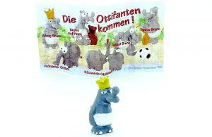 """König Bruno Figur mit Zettel aus der Serie """"Die Ottifanten kommen"""""""