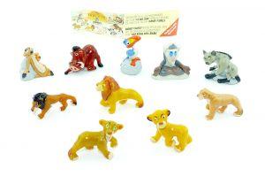 Der König der Löwen Figurensatz von Firma Nestle mit Beipackzettel