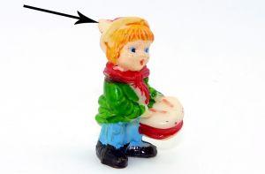 Junge mit Trommel, Hutkrempe und Feder nicht bemalt (Variante)