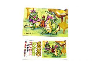 Puzzleecke von der Kroko Schule unten links mit Beipackzettel