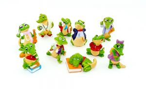 Die Kroko Schule. Alle 10 Figuren der Serie (Sätze Ausland)