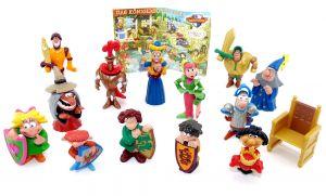 Alle 13 Funny Castle Figuren mit einem BPZ. Motto Das Königliche Turnier