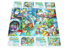 Kukomons, alle 4 Puzzleecken mit Anleitung (Superpuzzle)