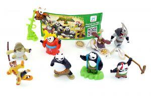 Satz Kung Fu Panda 3 mit allen 10 Figuren und 1 BPZ