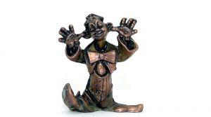 Metall Figur von Max der Clown aus Kupfer