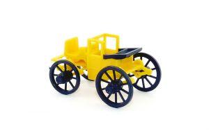 """Kutsche in gelb aus der Serie """"Zeit der schönen Kutschen"""" von 1977 (Bermes-Design)"""