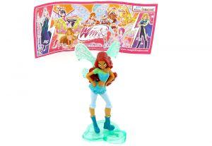Layla von den WinX Club Figuren 2012 mit Beipackzettel