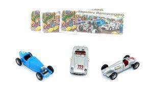 Satz Legendäre Rennwagen - Oldtimer mit Beipackzettel (Autos)