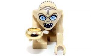 Gollum mit Ring aus dem Set 9470. Gollum als LEGO Lego Minifigur von Herr der Ringe