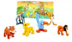 6 Figuren von König der Löwen mit Beipackzettel [Firma Nestle]