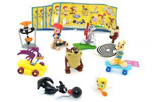 Looney Tunes Show Komplettsatz mit allen Zetteln und Aufklebern