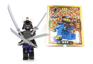 Lego Ninjago Lord Garmadon Figur noch im Blister und Booster Karte von JAY