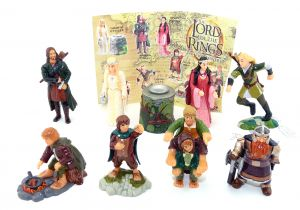 The Lord of the Rings THE TWO TOWERS Figurensatz mit 1 Beipackzettel