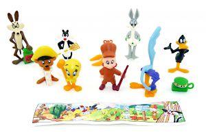 Looney Tunes Steckfiguren von 1996  mit 1 Beipackzetteln (Sätze Europa)